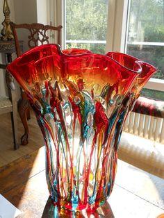 Love T. Wade's Murano Italian Glass Vase