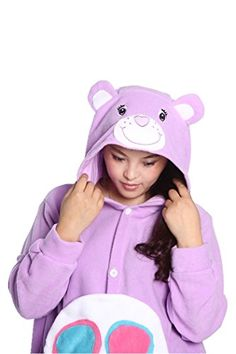 WOTOGOLD Animal Cosplay Costume Candy Bear Unisexadult Pajamas Cartoon Sleepwear Purple >>> To view further for this item, visit the image link.