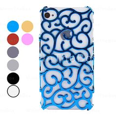 Novelty Flower Rattan Skin Hard Case for iPhone 4 and 4S (Assorted Colors)