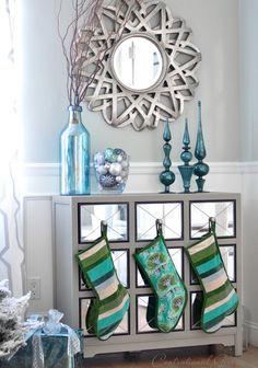 Cool mirror from http://www.wayfair.com/Kichler-Mirror-in-Antique-Silver-78125-KI13453.html