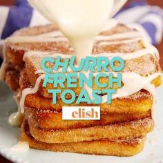 Brunch Recipes, Cake Recipes, Breakfast Recipes, Breakfast Ideas, Yummy Treats, Yummy Food, Healthy Food, Healthy Recipes, Churro French Toast