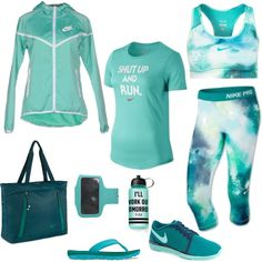 Shut Up And Run by jessica-diaz-7 on Polyvore featuring NIKE and Victoria's Secret