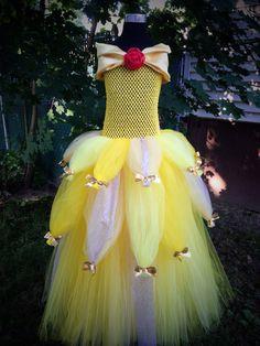 Princess Belle Tutu Dress by Arribelle on Etsy, $51.00