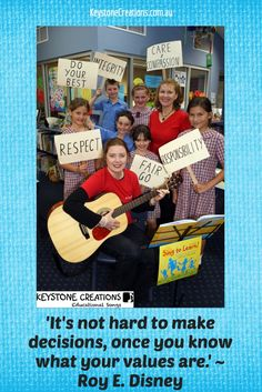 'LIVING VALUES' (Grades K-12) is a curriculum-aligned, anthem-style song (available as song video, MP3 song package, & poem) highlighting nine core values:• Care & Compassion • Doing Your Best •Responsibility • Freedom • Integrity • Respect •Fairness • Honesty & Trustworthiness •Understanding, Tolerance & Inclusion (The Government's Nine Values for Australian Schooling) 'A Lesson in Every Lyric'™ (IMAGE: Nuala O'Hanlon (R) & Kathryn Radloff (L),Directors, KEYSTONE CREATIONS ~ Educational Songs) Reading Groups, Student Reading, Learning Resources, Teaching Ideas, Classroom Whiteboard, Curriculum, Homeschool, Poetry Unit, Arts Integration