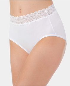 d47a77ccd57 Vanity Fair Flattering Cotton Lace Stretch Brief 13396, also available in  extended sizes