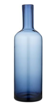 With its streamlined shape and ombre blue hue, this decorative blue glass bottle is design at its best.  Priced at £5.