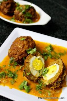 Nargisi Kofta is a wonderful mutton keema recipe with egg as a stuffing and deep fried recipe eaten plain or as a snack or it can be eaten with gravy in it.