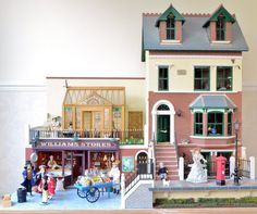 1/12th scale Hand made dolls house and shop complete in Dolls & Bears, Dolls' Houses | eBay