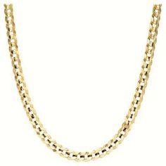 "Men's 14k Yellow Gold 2.6mm Cuban Chain Necklace, 24"".  List Price: $735.00  Savings: $395.00 (54%)"