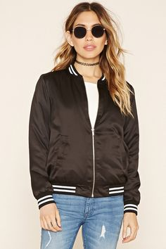 Sheeny Padded Varsity Jacket | Forever 21 - 2000219756