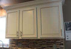 dove white doors with mocha glaze