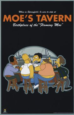 the simpsons poster | The Simpsons - Moe's Tavern