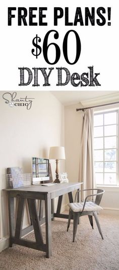 DIY Home Office Decor Ideas - DIY Truss Desk - Do It Yourself Desks, Tables, Wall Art, Chairs, Rugs, Seating and Desk Accessories for Your Home Office http://diyjoy.com/diy-home-office-decor
