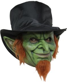 This mad goblin mask is a scary leprechaun costume idea for adults. Become a killer goblin with this realistic green mask.