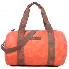 DAVIDJONES Synthetic Weekender Travel Tote Bag Large Duffle Bag Gym  BagOrange    Check this awesome product by going to the link at the image. 4f0f20bcb4