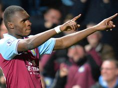 ~ Christian Benteke of Aston Villa celebrating his goal against Sunderland AFC. He would go on to score a hat trick ~