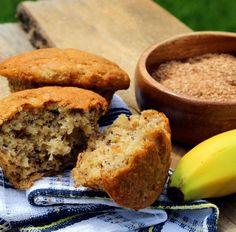 Muffin mit Banane und Schokoraspeln