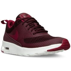 Nike Women's Air Max Thea Textile Running Sneakers from Finish Line ($100)  ❤ liked