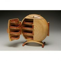a great jewelery box by Ray Jones Woodcrafts.