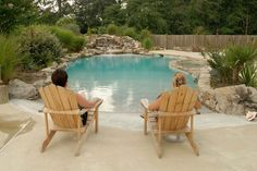 a beach entry pool! in my own backyard! Awesome!! Great for little grand babies to come play.