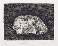Anico Herskovits - Enrolada - Gravura em metal - 26 x 30 cm