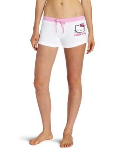 Hello Kitty Juniors Snuggly Embroidered Solid Short , White, X-Large Hello Kitty. $8.00