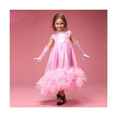Sunday Girls Feather Party Pageant Princess Kids Flower Girl Dresses 8 US Pink * Check out the image by visiting the link.