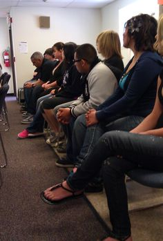 Faculty and Students sitting with Ray Suarez at RFK Charter High School. — in Albuquerque, New Mexico.  New Mexico PBS American Graduate: Let's Make it Happen Teacher Town Hall Airs 4/27/12 7PM on New Mexico PBS.