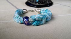 Sailor Knot Knitted Bracelet. Crochet Gradient by ClayhillDreams