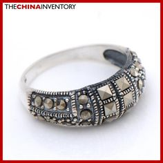 SIZE 6.75 MACARSITES 925 STERLING SILVER BAND RING SIL2503 India Jewelry, Band Rings, Sterling Silver, Bracelets, Bangles, Indian Jewelry, Bracelet, Arm Bracelets, Native Indian Jewelry