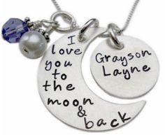 Sweet Idea I Love You to the Moon and Back Necklace.