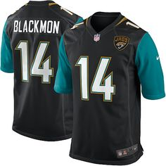 Nike Elite Justin Blackmon Black Youth Jersey - Jacksonville Jaguars #14 NFL Alternate