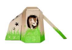STARFRUIT Co Ltd  Really cool pet houses made from cardboard. Not gonna lie, my boyfriend makes a pretty mean kitty house!