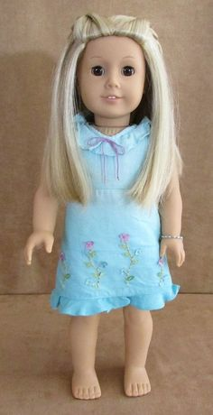 Kailey American Girl doll Meet dress of the year 2003 Pleasant Company blonde #DollswithClothingAccessories