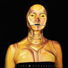 THIS IS BODY PAINT?! Yep! Learn how to paint yourself as C3PO for the intense fans!