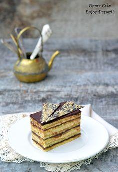 Opera Cake, Modern Cakes, Japanese Sushi, Tiramisu, French Toast, Gluten, Baking, Breakfast, Ethnic Recipes