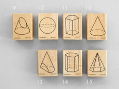 I need these! Present - Polyhedra Stamps.