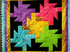 Wall or table Batik Whirligig by happyquilts on Etsy, $45.00