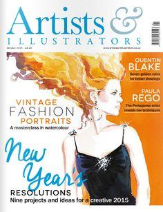 January 2015 issue Watercolor Disney, Watercolor Art, Quentin Blake, Master Class, Lovers Art, Art Tutorials, Cool Drawings, Illustrators, Portrait