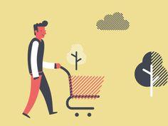 Shopping with Yova by Toondra #Design Popular #Dribbble #shots