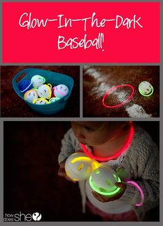 Glow in the dark baseball - or another ball game using glow bracelets on wiffle balls would be fun in a dark gym for cub scouts.