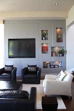 Tv Wall Units Design, Pictures, Remodel, Decor and Ideas Wall Nook, Wall Unit Designs, Modern Tv Wall Units, Niche Design, Tv Wand, Living Room Entertainment Center, Built In Furniture, Ideas Geniales, Interior Exterior
