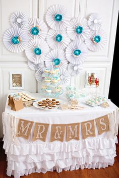 Lace and Pearls Bridal Shower!  See more party ideas at CatchMyParty.com!  #partyideas #bridalshower