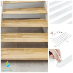The treads are self-adhesive and very easy to apply. With their discreet, transparent appearance, the treads blend unobtrusively into the existing design of your stairs. Protect yourself and your children from serious accidents in the home. | eBay!