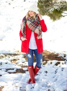 Fashion winter outfits casual blanket scarf new Ideas Winter Mode Outfits, Casual Winter Outfits, Winter Fashion Outfits, Autumn Winter Fashion, Outfit Winter, Fall Outfits, Red Outfits, Winter Outfits Warm Layers, Winter Dresses
