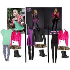 """Created using Polyvore by me! Olivia Holt fashion outfit recreations from Girl Vs. Monster - """"Girl Vs. Monster - Skylar Lewis Outfits"""" by pandagirl-14 on Polyvore"""