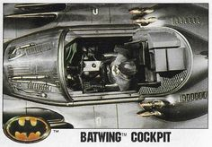 "Item Description Name Batman Title Batwing Cockpit Format Movie Trading Card Card Company and Number Topps Size X Country of Origin United States Year of Issue 1989 Condition of Item M- (Near Mint) Notes Michael Keaton as ""Batman"" Comic Book Heroes, Comic Books, Batman Pictures, Batman Poster, Sports Gallery, Batman The Animated Series, Michael Keaton, Batman Universe, Trading Card Database"