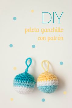 tutorial-bola-de-ganchillo-con-patrón Holiday Crochet, Crochet Home, Love Crochet, Diy Crochet, Crochet Baby, Crochet Stitches, Crochet Patterns, Yarn Organization, Crochet Keychain