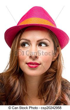Stock Photo - Fashionable Female in Fedora Hat - stock image, images, royalty free photo, stock photos, stock photograph, stock photographs, picture, pictures, graphic, graphics