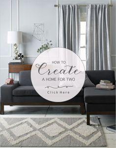 How To Create A Home For Two! #weddingchicks newlyweds | first home | home decor